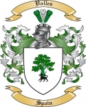 Valles Family Crest from Spain