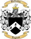Vallintine Family Crest from England