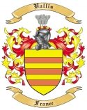 Vallis Family Crest from France