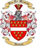 VanDerMerwede Family Crest from Holland