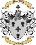 Van Beek Family Crest from Holland