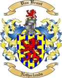 Van Brunt Family Crest from Netherlands