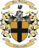 Van Byland Family Crest from Netherlands