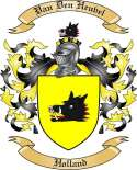 Van Den Heuvel Family Coat of Arms from Holland