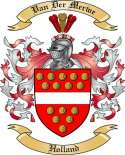 Van Der Merwe Family Crest from Holland