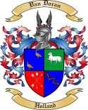 Van Doran Family Crest from Holland