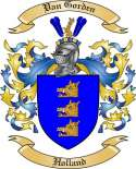 Van Gorden Family Crest from Holland