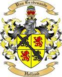 Van Gravesande Family Crest from Holland