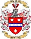 Van Hoorn Family Coat of Arms from Netherlands
