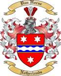 Van Horne Family Crest from Netherlands