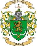 Van Kempen Family Crest from Holland