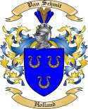 Van Schmit Family Crest from Holland