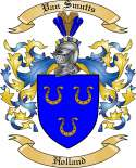 Van Smutts Family Coat of Arms from Holland