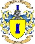 Van den Burg Family Crest from Holland