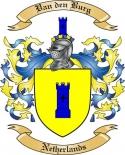 Van den Burg Family Crest from Netherlands