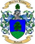 Van den Linden Family Crest from Holland