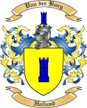 Van der Burg Family Crest from Holland