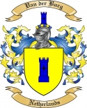 Van der Burg Family Crest from Netherlands