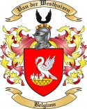 Van der Westhuizen Family Coat of Arms from Belgium