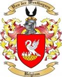 Van der Westhuyzen Family Coat of Arms from Belgium