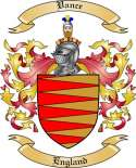 Vance Family Crest from England
