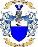Vander Post Family Crest from Holland
