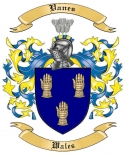 Vanes Family Crest from Wales