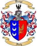 Vange Family Coat of Arms from Italy