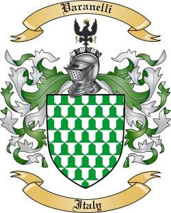 Varanelli Family Crest from Italy