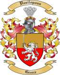 Vasilopous Family Coat of Arms from Greece