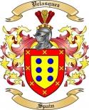 Velasquez Family Crest from Spain2