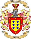Velazquez Family Crest from Spain2