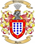 Velazquez Family Crest from Spain