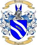 Venters Family Coat of Arms from England