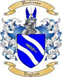 Ventresse Family Coat of Arms from England