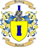 Verburg Family Crest from Holland