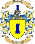 Verburg Family Crest from Netherlands