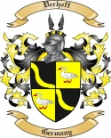 Verhoff Family Crest from Germany