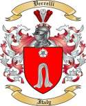 Verrelli Family Crest from Italy