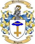 Verschoore Family Coat of Arms from Belgium