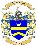 Vescovini Family Crest from Italy