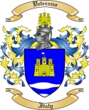 Veterano Family Crest from Italy