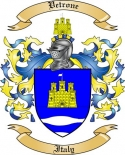 Vetrone Family Crest from Italy