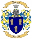 Veynes Family Coat of Arms from Ireland