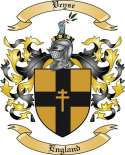 Veyse Family Coat of Arms from England