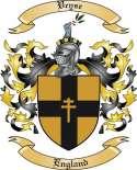 Veyse Family Crest from England