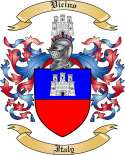 Vicino Family Coat of Arms from Italy