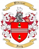 Vidussi Family Crest from Italy