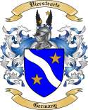 Vierstraete Family Crest from Germany