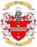 Vietto Family Crest from Italy
